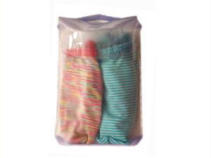 Bolsa de plástico Pvc con asa soldada